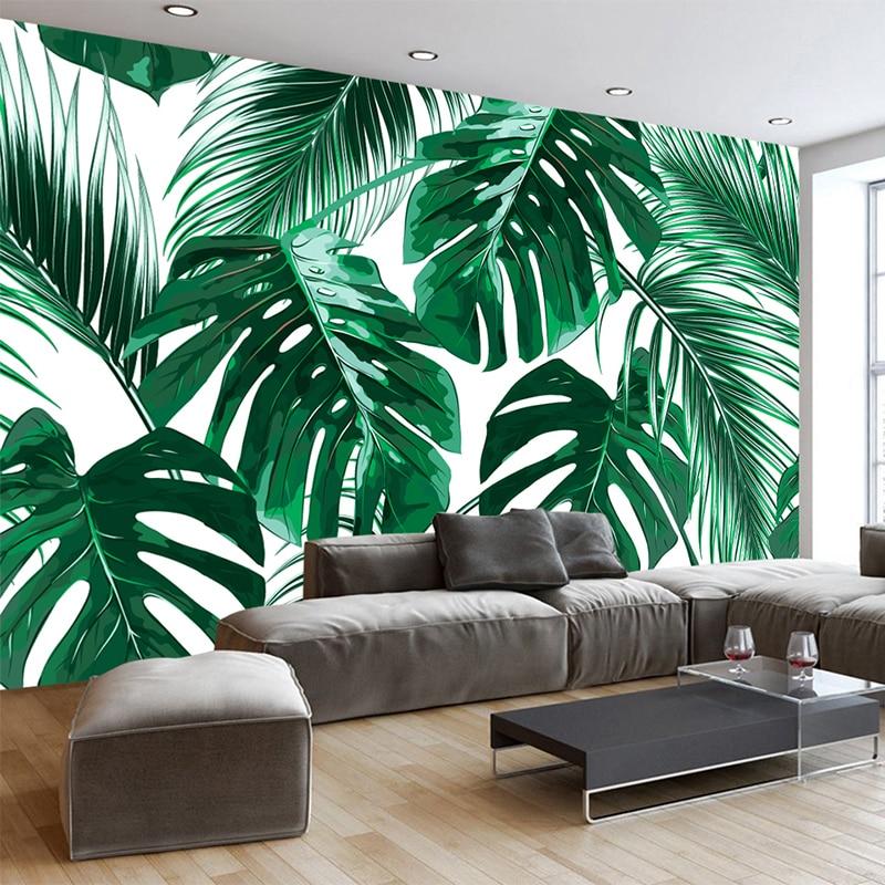 living plant bedroom wall creative decor forest simple modern backdrop paper mural fresh wallpapers 3d rain zoom murals custom