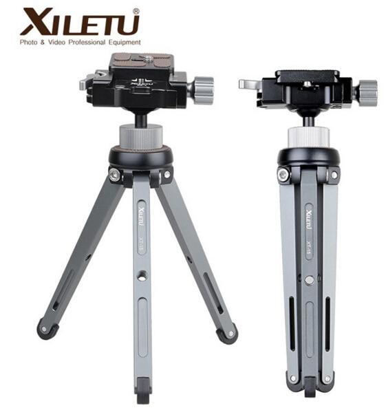 XILETU XT-15+BS-1 Camera Phone Stand Lightweight Tabletop Mini Tripod For Smartphone DSLR Mirrorless Camera