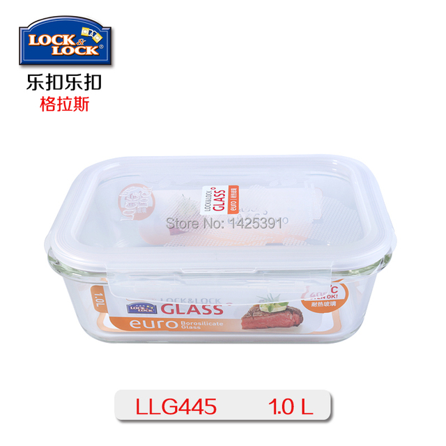 Lock Lock Safety Vacuum Tempered Food Glass Container Waterproof