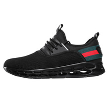 купить Casual Shoes for Men 2019 Summer New Men Sneakers Lace Up Low Top Jogging Shoes Man casual Footwear Breathable size 39-46 Chat дешево