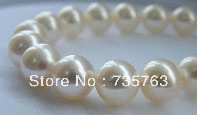 Free shipping PERFECT ROUND 1811-12MM SOUTH SEA GENUINE WHITE PEARL NECKLACEFree shipping PERFECT ROUND 1811-12MM SOUTH SEA GENUINE WHITE PEARL NECKLACE