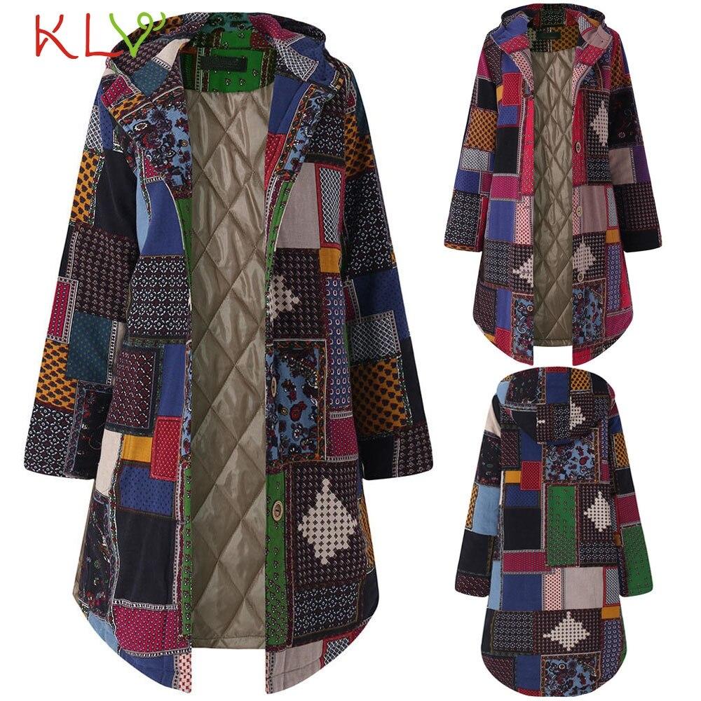Freundlich Neueste Kapuze Mäntel Baumwolle Winter Jacke Frauen Outwear Mantel Warm Outwear Dot Drucken Mit Kapuze Taschen Vintage Oversize Mäntel Jacken & Mäntel