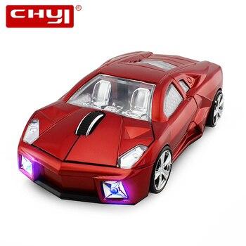 Спортивная машина в форме мыши Автомобильная беспроводная мышь ГГц 2,4 Оптическая Компьютерная светодио дный мышь LED Sem Fio игровая мышь для ПК...