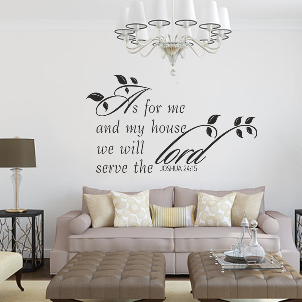 As for me and my house we will serve the lord joshua 2415 as for me and my house we will serve the lord joshua 2415 scripture wall decal 66cm x 117cm in underwear from mother kids on aliexpress alibaba amipublicfo Gallery