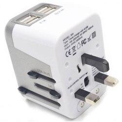 Adapter wtyczki zasilającej na międzynarodowe podróże 4 porty USB praca Adapter 220 v Adapter podróżny typ C typ A typ G typ I dla wielkiej brytanii #8 w Wtyczki i złącza od Elektronika użytkowa na