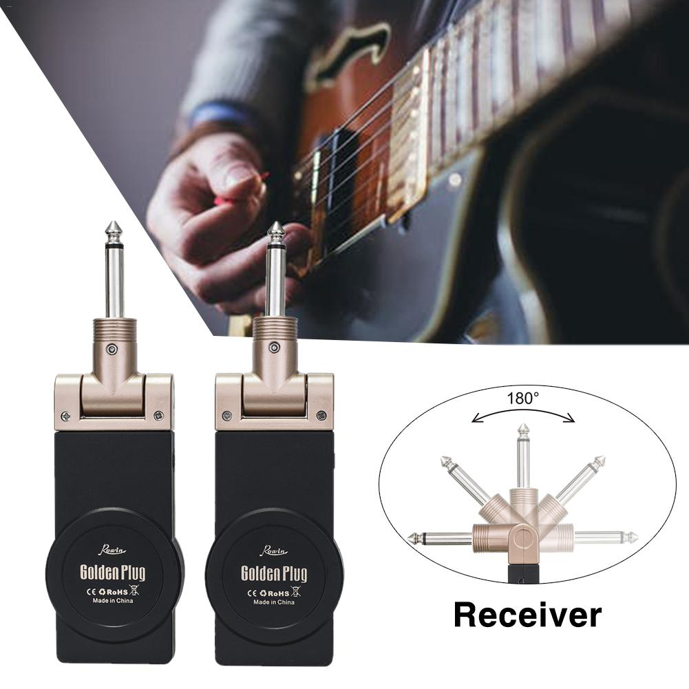 2.4G Wireless Guitar System Rechargeable Lithium Built-in Battery Transmitter Receiver 30 Meters Transmission Range2.4G Wireless Guitar System Rechargeable Lithium Built-in Battery Transmitter Receiver 30 Meters Transmission Range