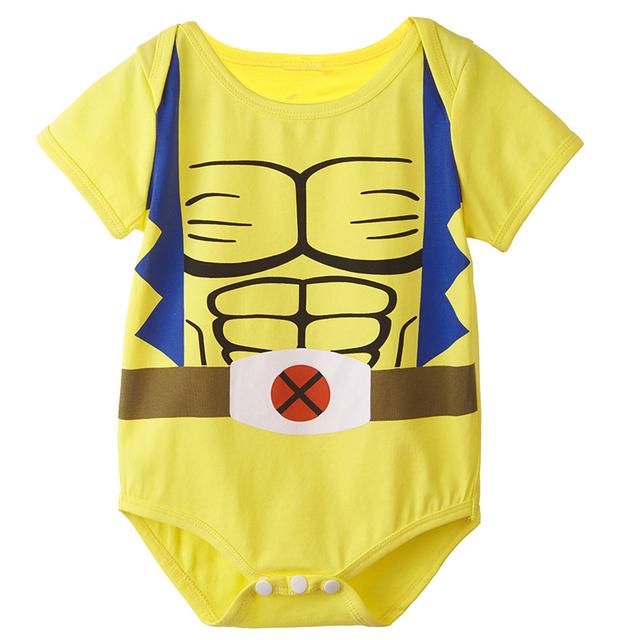 Bébé Garçons Logan Wolverine Combinaisons Infantile Manches Courtes D'une Seule Pièce Taille 0-24 Mois