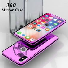 360 Full Mirror Case For iphone XR 6s 6 s plus iphone XS 11pro Max Luxury Cover Case For iphone 8 7 plus iphone 11 Pro 10 Cases cheap GAGP Fitted Case 360 full protection with glass protector + mirror plating Apple iPhones iPhone 5 iPhone 6 iPhone 6 Plus