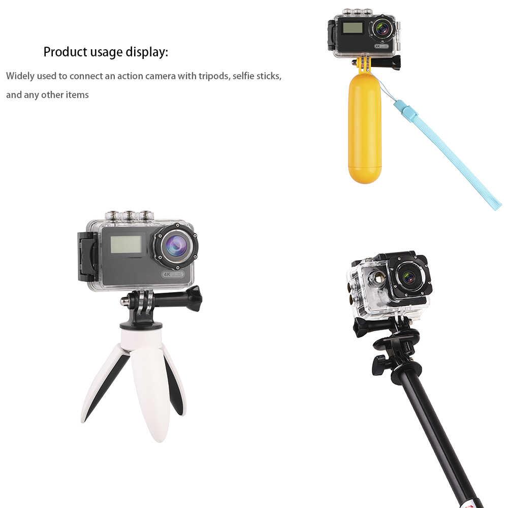 Iść akcesoria pro Adapter do montażu na statywie długi śruba motylkowa dla GoPro 8 7 6 5 4 3 Yi 4K S4000 Sj9 H8 DJI OSMO kamera akcji