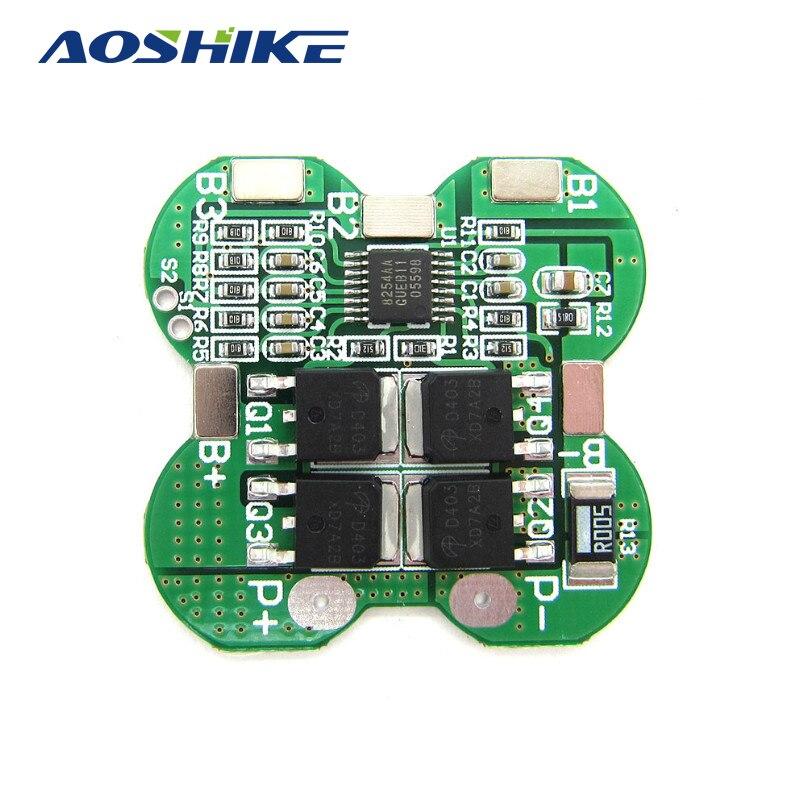 Aoshike 5 шт. 4S 14.8 В 20A литий-ионный Батарея 18650 Зарядное устройство защиты печатной платы BMS 16.8 В завышенную переразряда защита