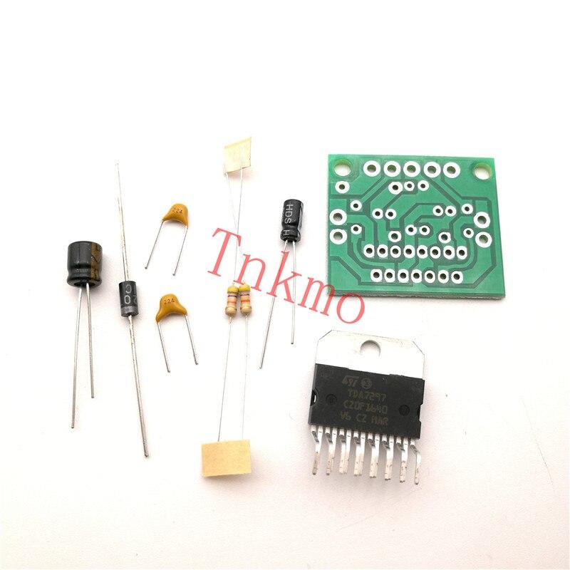 Free shipping 1PCS TDA7297 Amplifier Board Spare Parts DC 12v Grade 2.0 Dual Audio Encoding 15W Electronic Diy Kit