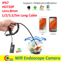 Lens 8mm Wifi Android Iphone Endoscope Camera 1M 2M 3.5M 5M Waterproof Snake Tube Pipe Borescope 720P Iphone Camera Endoscope