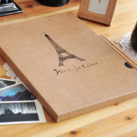 New Arrival Freeshipping TOWER Paris Diy Paper Sticky Type Viscose Photo Album Scrapbooking Album De Fotos Christmas Decoration