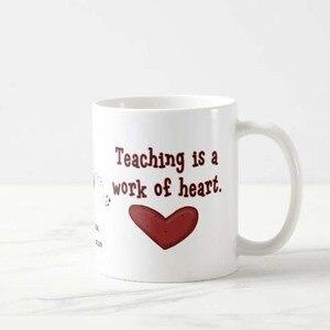 Персонализированные пользовательские имя учителя оценка сердце кофейная кружка 11 унций день рождения, День матери подарки, день отцов пода...