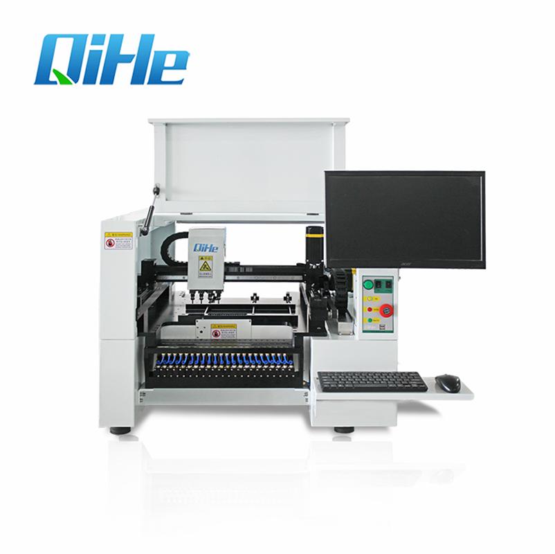 Qihe 4 Heds 6 Cameras Desktop Semi automatic LED Assembly SMD Pick and Place Machine TVM925 Chip Mounter