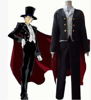 black anime costume for men anime cosplay clothing sailor moon cosplay for men anime party supplies
