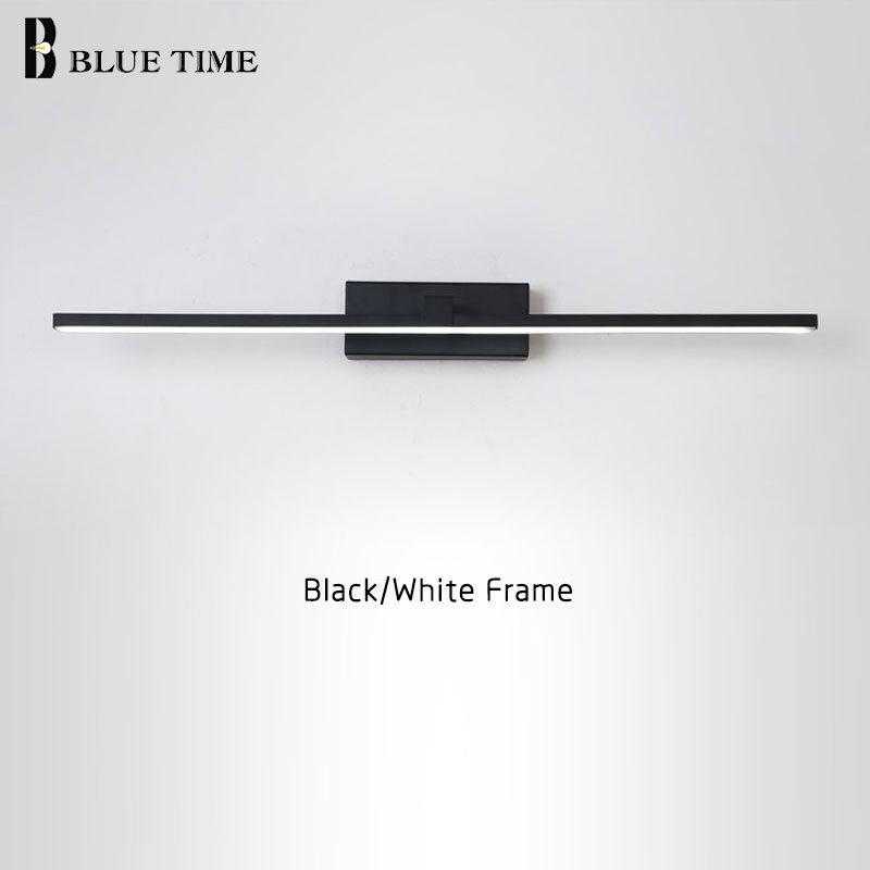 New Design Fashion LED Wall Lamps For Bathroom Bedside Modern Mirror Front Light Black&White Finished LED Wall Lights AC220V110V
