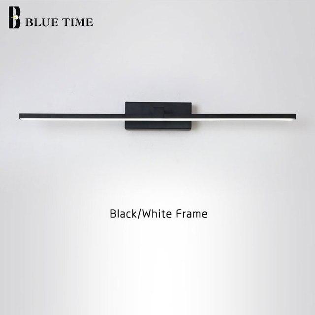 새로운 디자인 패션 LED 벽 램프 욕실 머리맡 현대 거울 전면 빛 흑백 완료 LED 벽 조명 AC220V110V