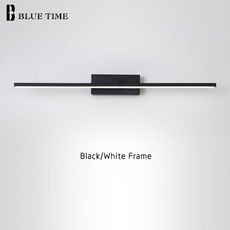 Permalink to New Design Fashion LED Wall Lamps For Bathroom Bedside Modern Mirror Front Light Black&White Finished LED Wall Lights AC220V110V