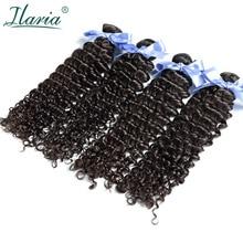 Волосы Ilaria малазийские кудрявые волосы глубокая волна 4 пряди необработанные натуральные кудрявые пучки волос естественный цвет мягкий и удобный