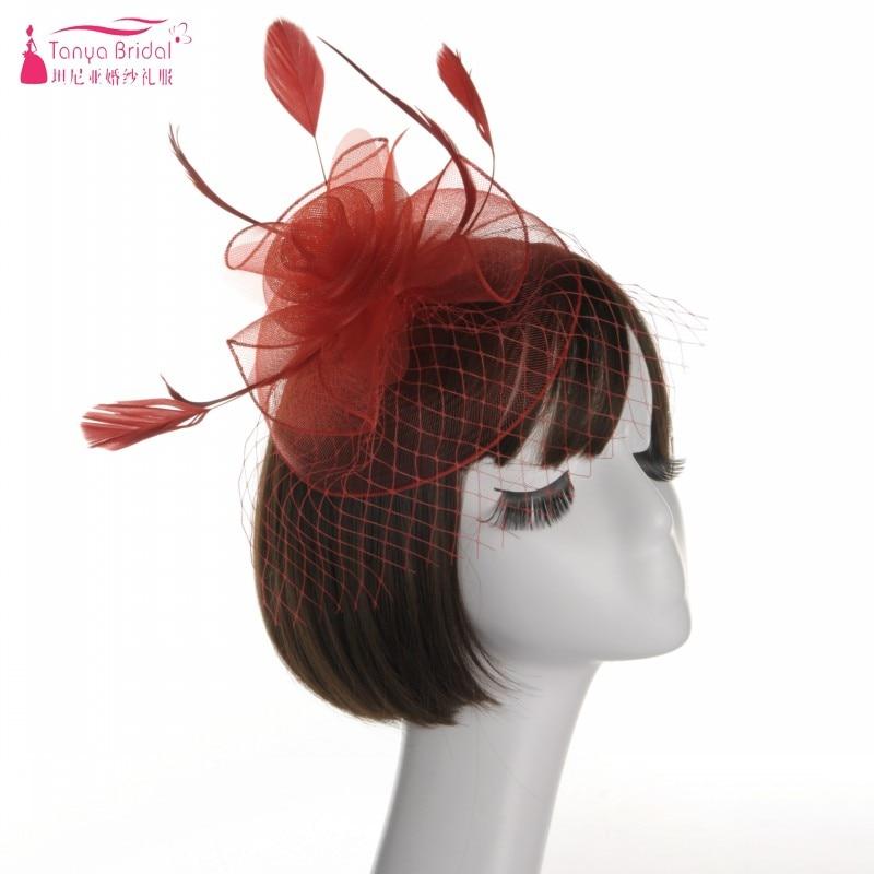 Elegante Bloem Hoeden Bridal Vrouwen Elegant Hoed Banket Hoed Veer Lady Haar-accessoires 9 Kleuren Dqg222 Straatprijs
