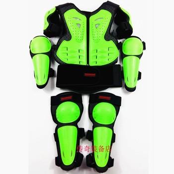 Dziecko motocykl Motocross ciała kurtka kamizelka zbroja dla dzieci klatki piersiowej kręgosłupa sprzęt ochrony z łokcia ramię kolano Pad dla 5- 14 lat tanie i dobre opinie Motorcycle Armor SUWDT