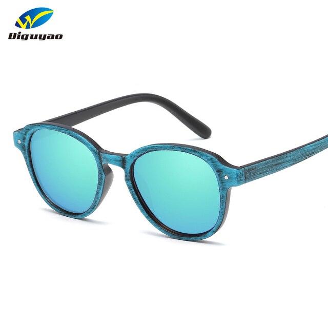 811ea580400 Color Film Sunglasses Vintage Wood Grain Sun Glasses Men Women Rice Nail  Grain Retro Sunglass Famous Brand Designer
