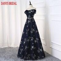 Navy Blue Long Evening Dresses Party A Line Beautiful Women Prom Elegant Formal Evening Gowns Dresses On Sale abendkleider