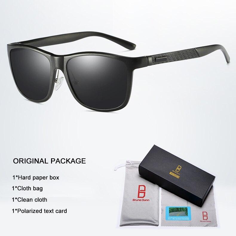 Bruno dunn Sunglasses Men Polarized 2020 Luxury Brand square metal frame male sun glasses oculos de sol masculino 2140 ray uv400 7