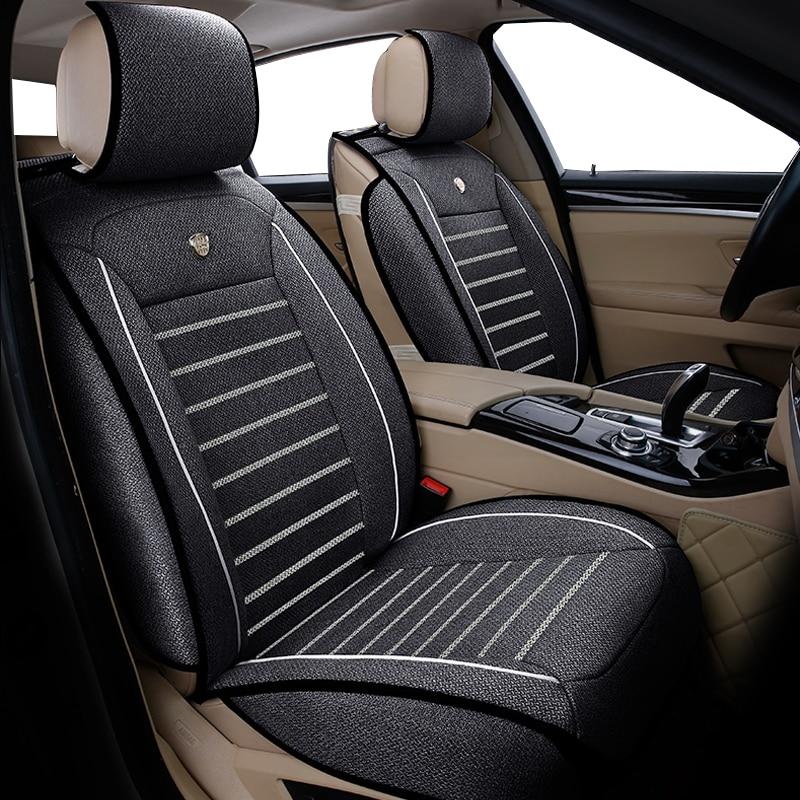 Universal flax car seat covers for Nissan Qashqai Note Murano March Teana Tiida Almera X TRAIL