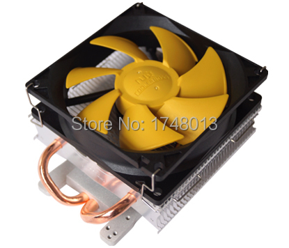 90mm fan 2 heatpipe VGA cooler, for nVIDIA / ATI graphics card cooler cooling, VGA fan, CoolerBoss GFH-209-01 free shipping diameter 75mm computer vga cooler video card fan for his r7 260x hd5870 5850 graphics card cooling