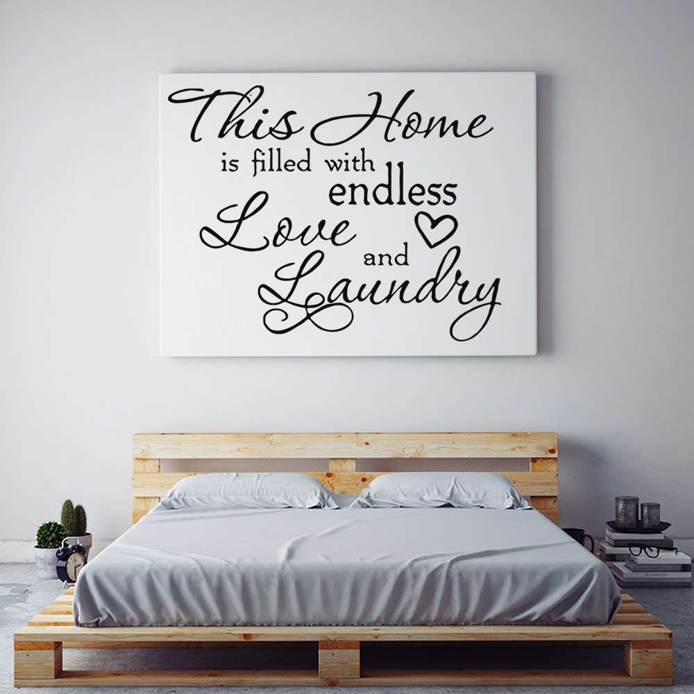 Laundry Room Wall Stickers This Home Is Filled With Endless Love And Laundry Room Wall Decals