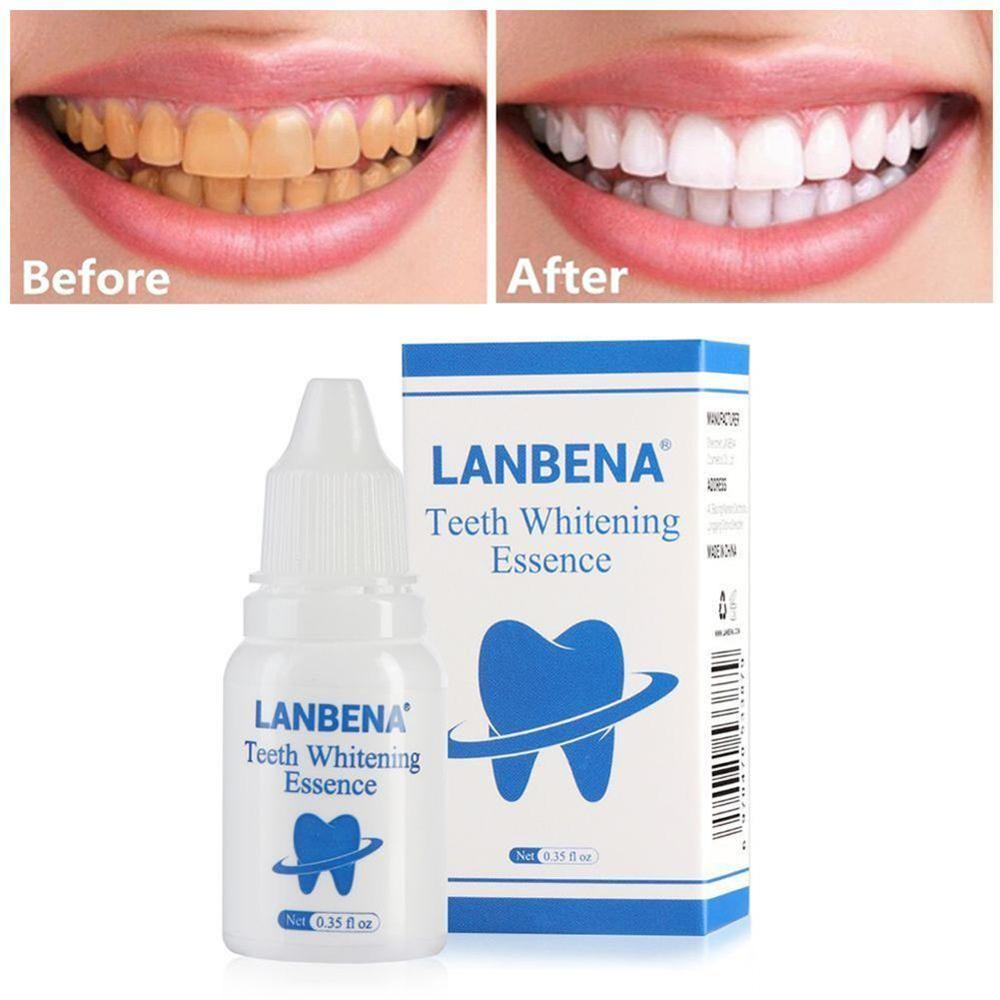 LANBENA 10ml Oral Hygiene Cleaning Teeth Whitening Removes Plaque Stains Tooth Bleaching Essence Powder Oral Hygiene Cleaning