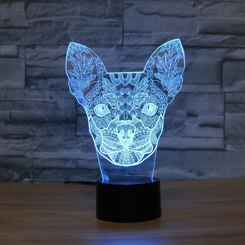 Chihuahua night light designs kids lamp romantic night for Night light design