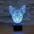 Chihuahua Night Light Designs Kids Lamp Romantic Night Lighting 7 Color Changing Led Lights For Home Decorative