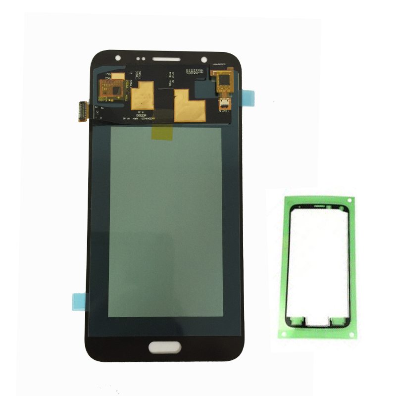 100% Super <font><b>AMOLED</b></font> LCDS For Samsung Galaxy J7 2015 J700 J700F J700H J700M LCD Display Touch Screen Digitizer Assembly Sticker