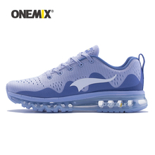 ONEMIX NEW Arrive Women Running Shoes White Blue Pink Woman Jogging Sport Sneakers for Outdoor Walking Fitness Run damping mesh