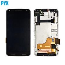 Tam LCD Motorola Moto X Kuvvet Için LCD Ekran Ekran Ile dokunmatik ekran digitizer Paneli Meclisi Ile Çerçeve Ücretsiz Kargo