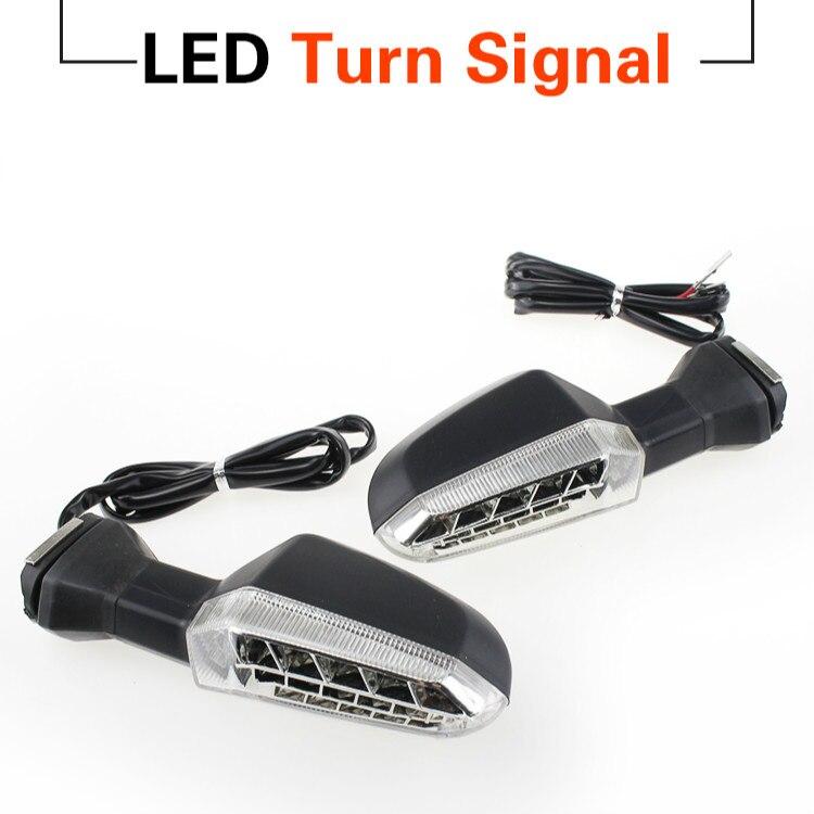 For KAWASAKI Z125 Z250 Z300 Z750R Z800 Z1000 Motorcycle Front Rear LED Turn Signal Indicator Light Blinker Lamp