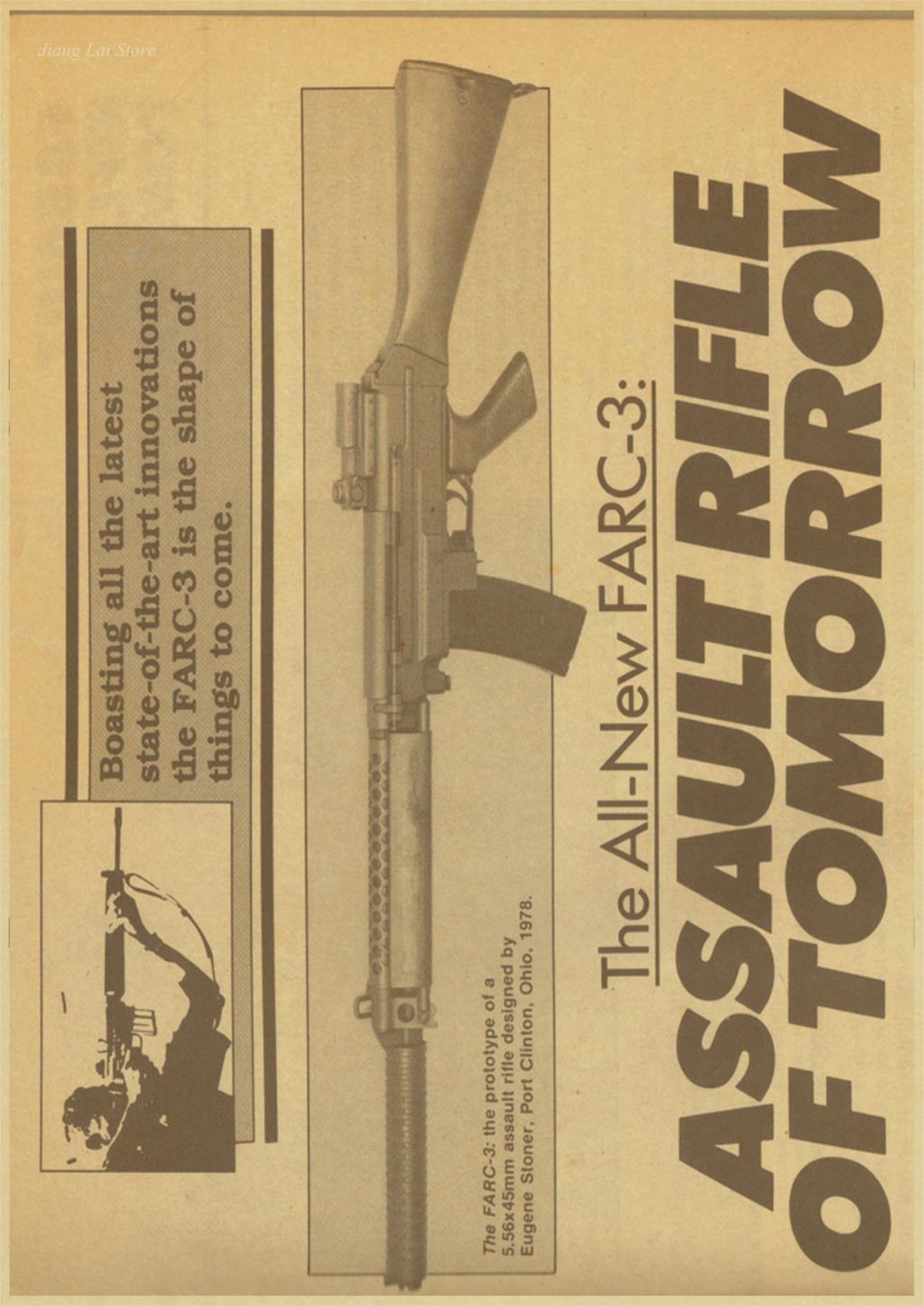 World Famous Gun Posters Military Fans Vintage Poster Kraft Paper ...