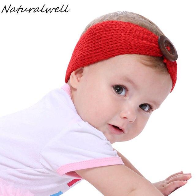 Naturalwell Häkeln Kind Stirnband Mit Einer Holzknopf Kleine Mädchen