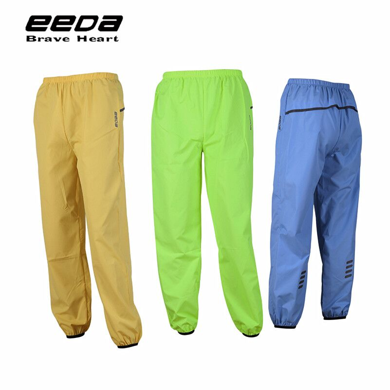 WEST BIKING Breathable Compressed Bike Rain Pants Windproof Weatherproof Elastic Riding Rain Clothing Full Length Rain-Trousers