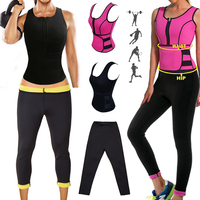 NEW Neoprene Sauna Vest Body Shaper Slimming Waist Trainer Shaper Pants Summer Workout Shapewear Adjustable Sweat