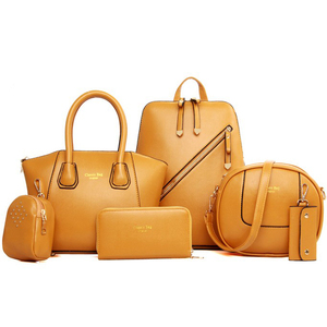 6pcs Women Bag Set Leather Han