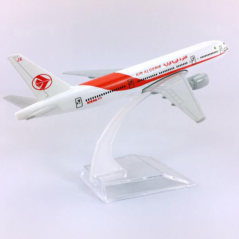 16CM 1:400 Boeing B777-200 Model Air Algeria Airlines W Plastic Base Alloy Aircraft Plane Collectible Display Model Decoration