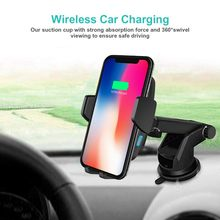 Wireless Car Charger 10W 7.5W 5W Cellphone Automotive Fast Charging Cradle Stand For IPhone for Samsung for Android(China)