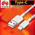 Original Huawei nova 3 Cable de cargador Usb tipo C la carga rápida cable de datos para p20 lite nova 2 2i 3i 4 honor 8 9 g9 p9 teléfono inteligente