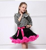 Baby Girls Tutu Skirt Turtleneck Fluffy Ballet Kids Pettiskirt Faldas Rainbow Child Tutu Skirt Girl Dance