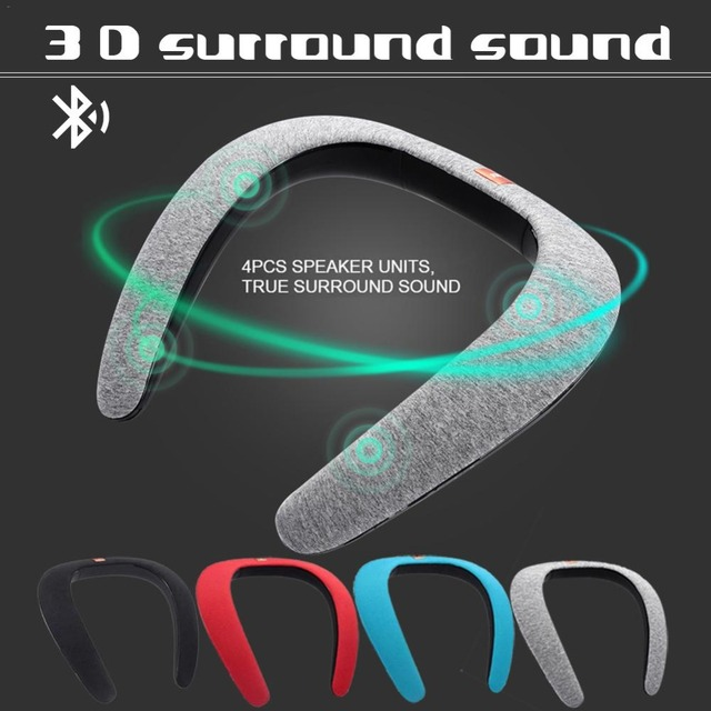 Kpfly Neck Speaker Hanging Wireless Bluetooth Speakers Wearable Mp3
