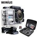 Wimius 4 k câmera de ação wi-fi ultra hd 1080 p 60pfs esportes mini Video Cam zoom Ir 40 M pro + 2.4G Controle Remoto Sem Fio À Prova D' Água